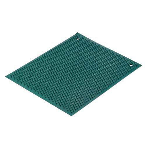 Green Knobby Rubber Mat