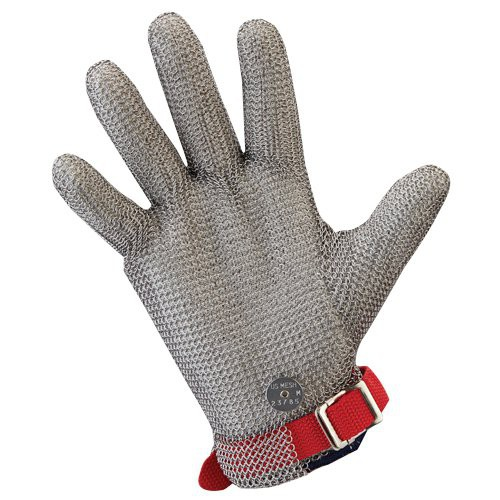 2-inch extended cuff metal mesh glove.
