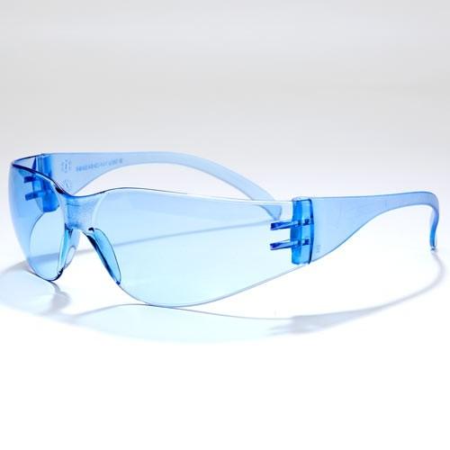 Blue, No Anti-Fog Safety Glasses