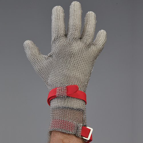 3-inch extended cuff metal mesh glove.