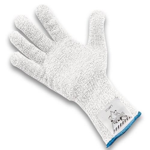 White, Standard Cuff Workhorse Cut-Resistant Glove.