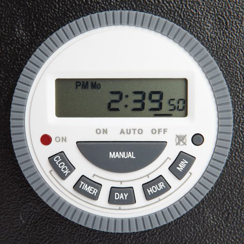 Programmable Timer Switch - 7-day/6-cycle deodorizes area up to 20,000 square feet.