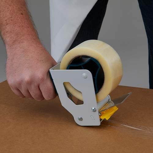 Tape dispenser makes applying tape an easy task.