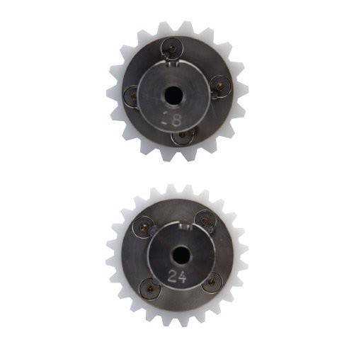 Peeler Rollers available with 14, 18, 22, 24 and 28 teeth.