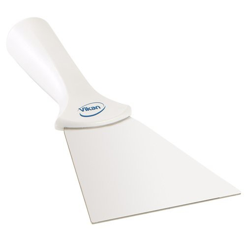 White 4-Inch Stainless Steel Scraper