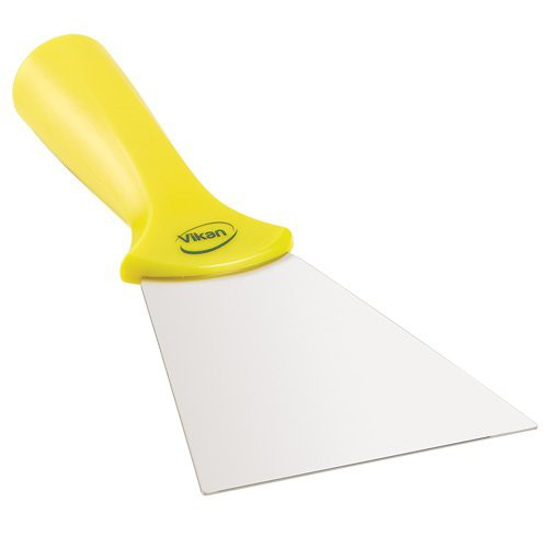 Yellow 4-Inch Stainless Steel Scraper