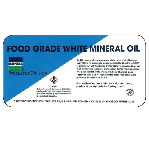 Food Grade Mineral Oil is made by Bunzl Processor Division.