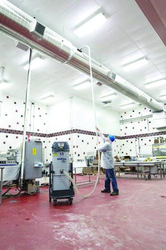 Nilfisk S3 Dry Vacuum in use