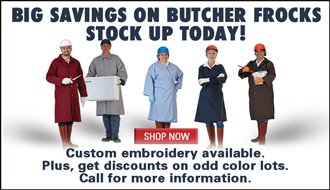 Big Savings on Butcher Frocks