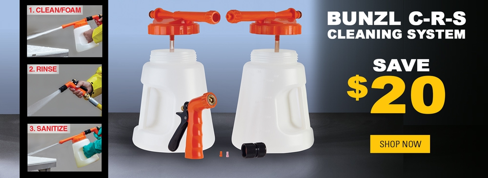 Save $20 on the Bunzl C-R-S Cleaning System