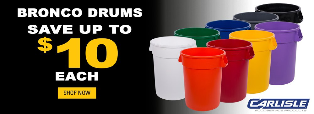 Save up to $10 each on Bronco Drums