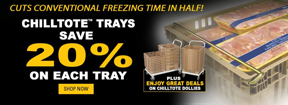 Save on Chill Tote Trays and Dollies
