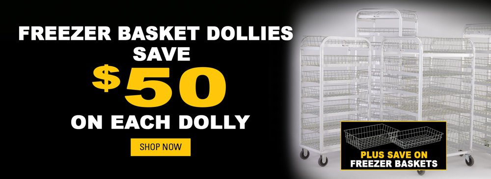 Save on Freezer Baskets and Dollies