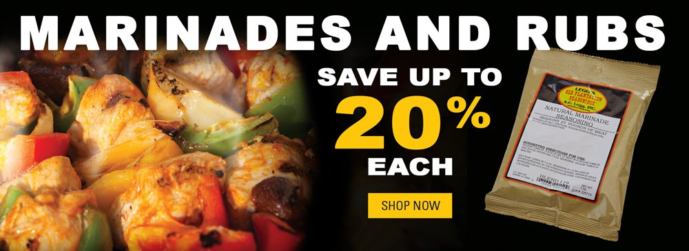 Featured Marinades and Rubs from Legg's