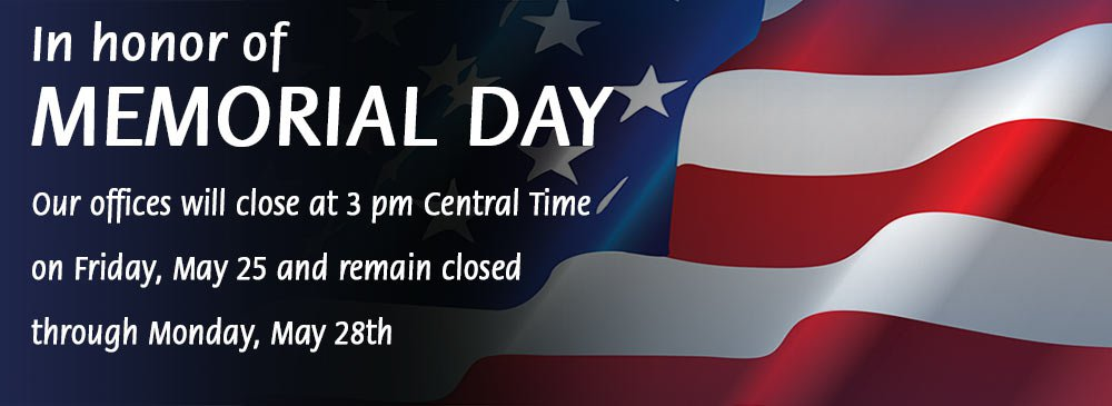 Memorial Day Weekend Hours