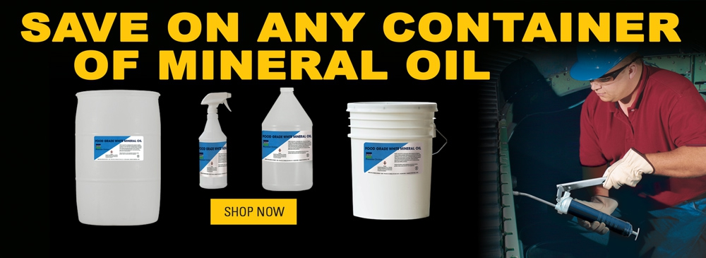 Save on Any Size Container of Mineral Oil