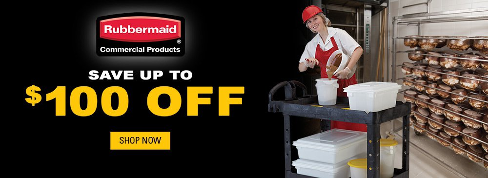 Save up to $100 on Rubbermaid Products