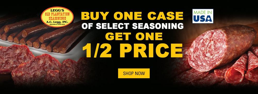 Buy One, Get One Half Price Seasonings