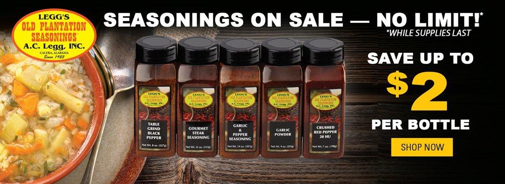 Save on Seasonings