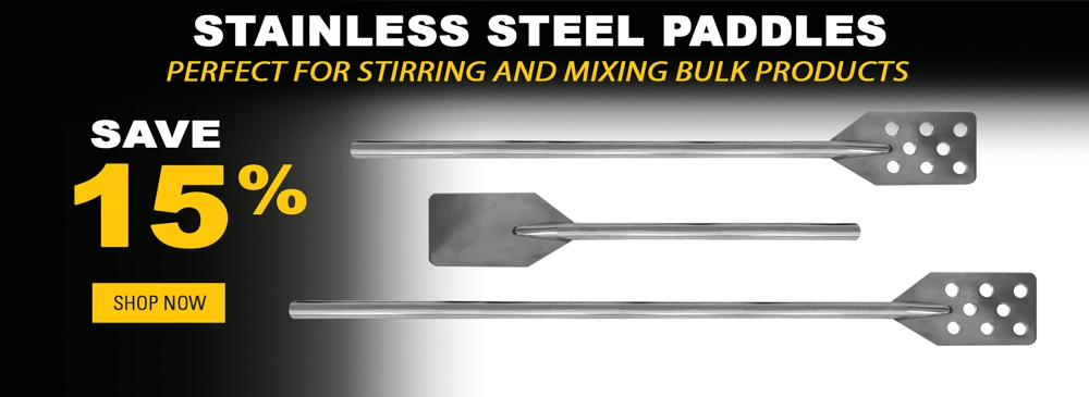 Save 15% on Stainless Steel Paddles