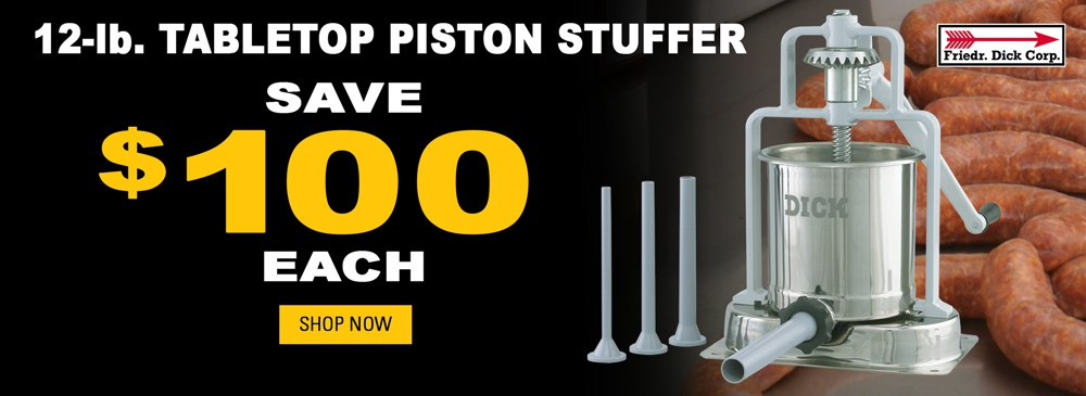 Save $100 on F. Dick Tabletop Piston Stuffer