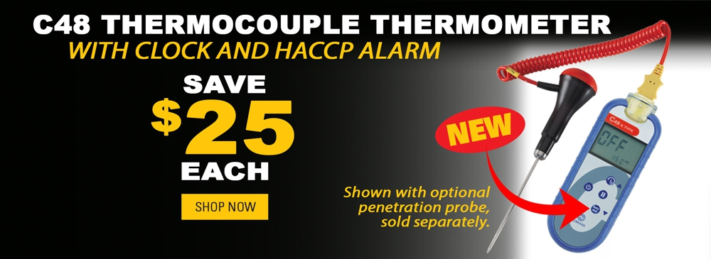 Save $25 on the C48 Thermocouple Thermometer