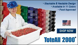 Toteall 2000 Stackable and Nestable Poly Totes