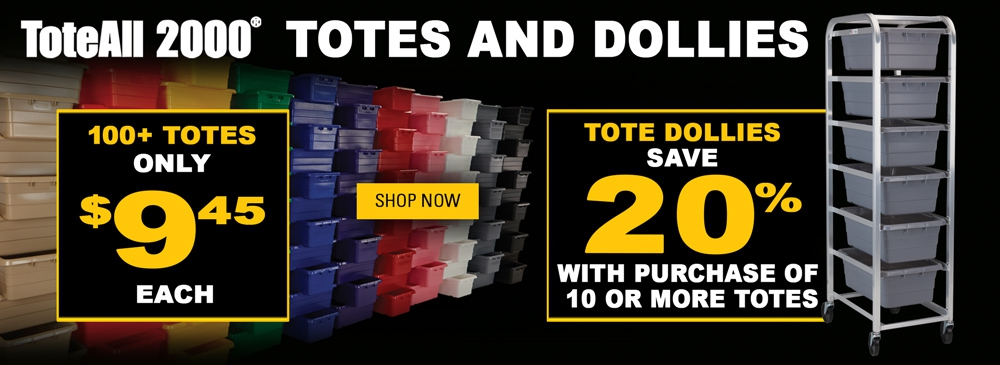 Save on Tote-All 2000 Plus Save 20% on Tote Dollies