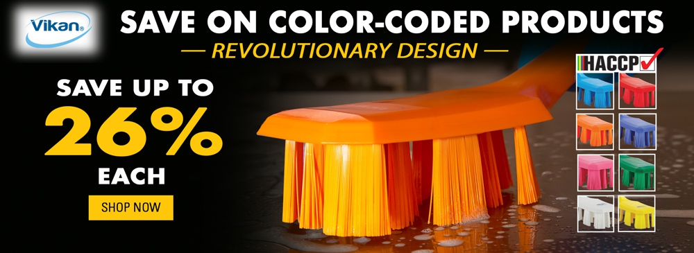 Save on Vikan Color-Coded Products