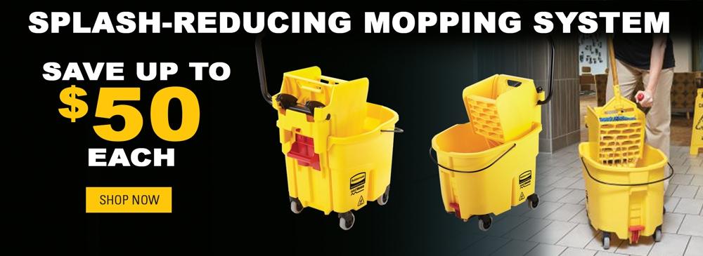 Save $50 on Splash-Reducing Mopping System