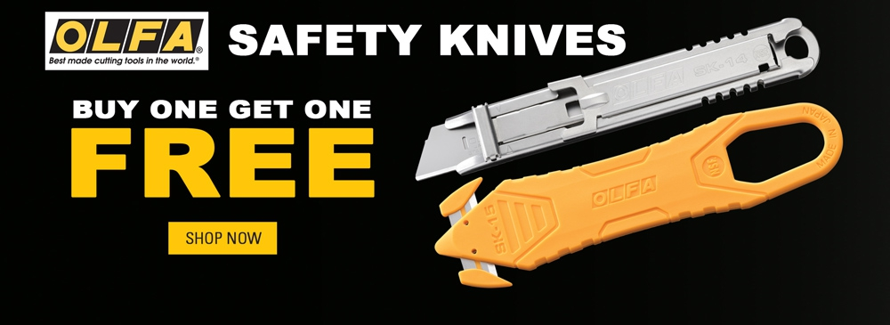 Buy 1 Get 1 FREE on Select OLFA Safety Knives