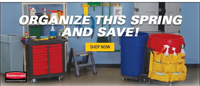 Organize this Spring and Save on Rubbermaid Products