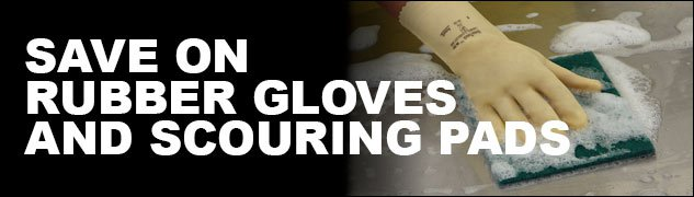 Rubber Gloves and Scouring Pads