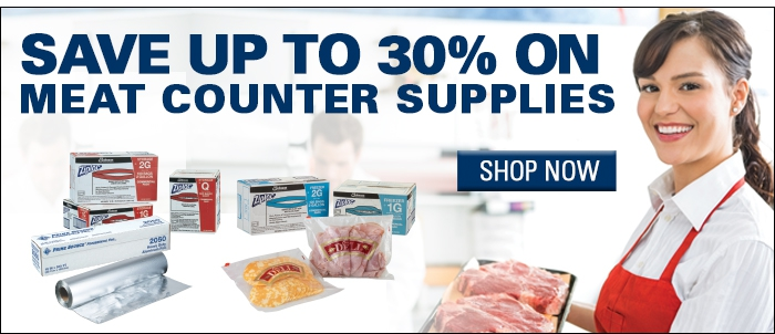Save Up to 30% on Meat Counter Supplies