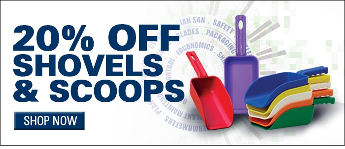 Save 20% on Shovels and Scoops
