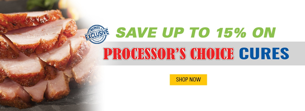 Save up to 15% on Processor's Choice Cures