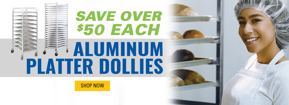Save Over $50 Each on Aluminum Platter Dollies