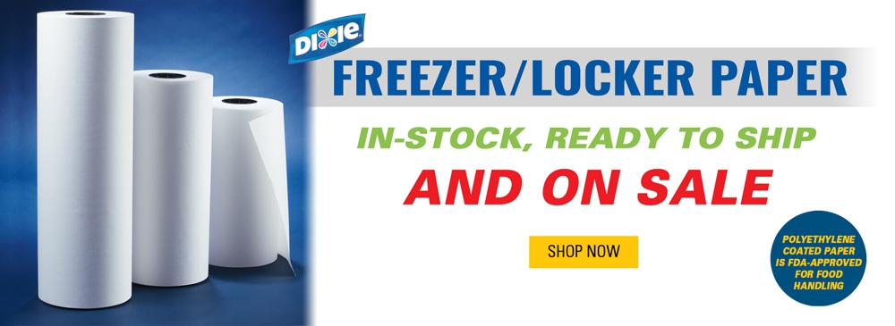 Freezer/Locker Paper In-Stock, Ready to Ship, and On Sale