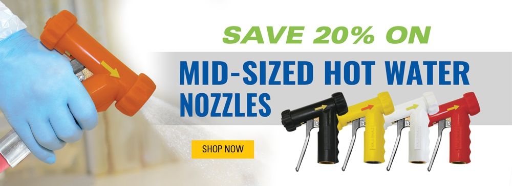 Save 20% on Mid-Sized Hot Water Nozzles